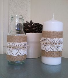 burlap baby shower | ... Burlap, Lace and Twine, for Decor at Home, Wedding, Baby Shower, and