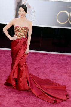 Premios Oscars 2013: Olivia Munn de Marchesa