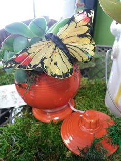 A great upcycle on a chipped piece of Fiestware! | Sparrow's Nest Consignment