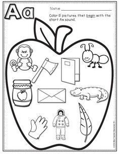 Beginning Sounds - Phonics Printables by Miss Teacher Resources 101 Numbers Kindergarten, Kindergarten Math Worksheets, Preschool Learning Activities, Alphabet Worksheets, Abc Sounds, Beginning Sounds, Classroom Charts, First Day Of School Activities, Fall Preschool