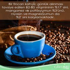 Bir fincan kahve; günlük alınması tavsiye edilenB2-B5 vitamininin%17'sini, manganez ve potasyumun%3'ünü, niyasinvemagnezyumun da %2'sinikarşılamaktadır. #coffee #kahve #kahvekeyfi