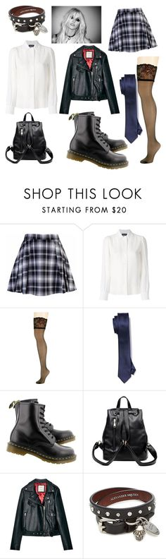 """School's Out 📌"" by livewireee ❤ liked on Polyvore featuring Vanessa Seward, Donna Karan, Dr. Martens and Alexander McQueen"