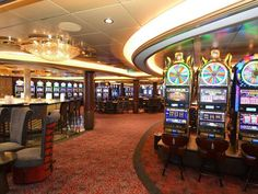 12. Pick a Card:  Of course, casinos aboard cruise ships are nothing new, but the one aboard the Anthem of the Seas is going to be huge! Above, you'll find a picture of the large casino aboard the Quantum of the Seas.