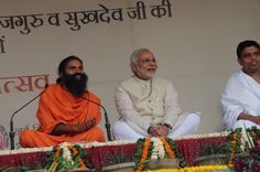 #yoga guru Baba Ramdev with Honorable Prime minister Shri Narendra Modi ji.