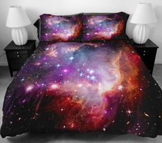 30+ Galaxy Bed Cover Designs For Your Space Bedroom