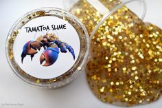 This Tamatoa Shiny Slime sparkles like a wealthy woman's neck! Make your own in minutes with just four ingredients.