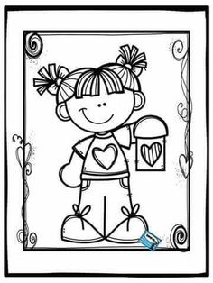 Dibujos Coloring Book Pages, Coloring Sheets, Colorful Pictures, Cute Pictures, Cute Clipart, Printable Coloring, Coloring Pages For Kids, Cute Drawings, Art Projects
