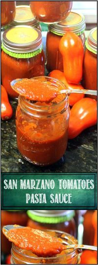 Sauce tomate San Marzano - 52 Authentic Italian Re - Pizza Sauce Italian Spaghetti Sauce, Canned Spaghetti Sauce, Italian Tomato Sauce, Italian Spices, Homemade Tomato Sauce, Homemade Marinara, Italian Cooking, Easy Canning, Canning Recipes