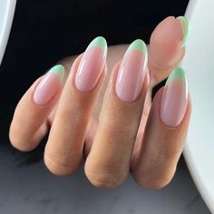 French nails create the visual effect of slender fingers. Now French nails have . - French nails create the visual effect of slender fingers. Now French nails have various color varia - Colored French Nails, French Nail Art, French Tip Nails, French Manicures, Acrylic French Manicure, Classy Nails, Stylish Nails, Trendy Nails, Simple Nails