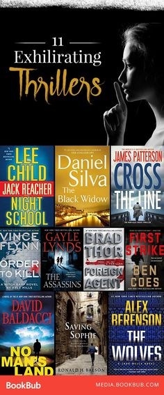 11 thriller books to add to your reading list. Featuring killers, crime, and plenty of suspense.