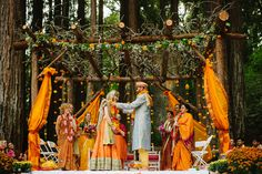 lots of fusion elements in this wedding..rustic mandap decor is breathtaking