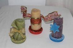 https://flic.kr/p/MbkpG4 | CANDELE ARROTOLATE NATALIZIE – REALIZZATE IN CERA | Candele arrotolate natalizie, realizzabili in vari colori e decorazioni. Con profumazioni naturali al 100%. Dimensioni: 45 x 95 mm.  Artigianali.   Per saperne di più visita il sito:  www.ilmiomondoincera.com