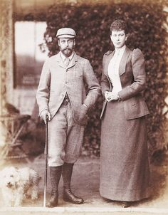 HRH Prince George, Duke of York and his fiancé, HSH Princess Mary of Teck (later Their Majesties King George V and Queen Mary)