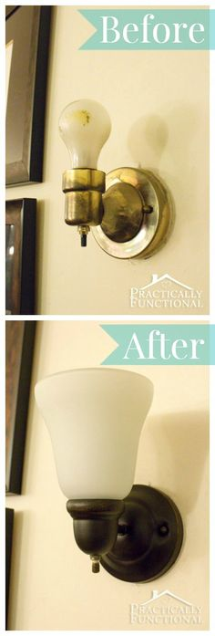 How To Decorate A Rental: Update Your Light Fixtures! A simple tutorial to help you upgrade your light fixtures!
