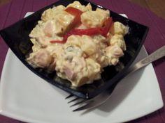 Kukoricás virslisaláta Potato Salad, Cauliflower, Recipies, Potatoes, Chicken, Meat, Vegetables, Ethnic Recipes, Food