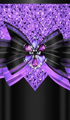 Black and purple bow