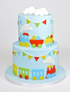 This FMM train cutter set is a fun idea to decorate birthday cakes. You will find everything you need to make a fondant train in this amazing set. Use any colour fondant you fancy to put your own spin on this super easy to use cutter 1st Bday Cake, Boys First Birthday Cake, Novelty Birthday Cakes, Baby Birthday Cakes, Cake Making Supplies, Cake Decorating Supplies, Decorating Tips, Bolo Cake, Cake Cutters