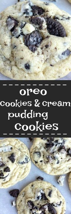 Oreo cookies & cream pudding cookies are thick, super soft thanks to the pudding mix in the dough, and totally addictive! Cookies n cream chocolate candy bars, Oreo pudding mix, and Oreo cookies are all in these cookies. If you're a fan of Oreos and cooki