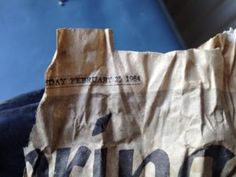 A very old copy of the Press & Journal. Journal, House, Home, Homes, Houses