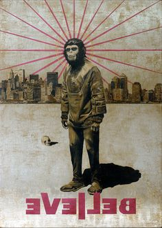 Jose Luis Ferragut - Believe Cornelius - 2011, oil on stainless steel canvas. 130 X 92 CM.