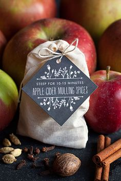 40 sweet fall wedding favor diy ideas 9 - Beauty of Wedding Mulled Cider Spices, Mulled Cider Recipe, Mulling Spices, Edible Wedding Favors, Wedding Favors For Guests, Party Favors, Edible Favors, Wedding Gifts, Hot Apple Cider
