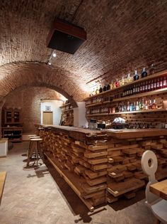 interior-cool-bar-restaurant-designs-with-unique-shabby-wooden-bar-table-also-round-wooden-bar-stools-and-natural-wooden-bottle-rack-on-the-wooden-wall-bar-restaurant-designs.jpg (1200×1602)