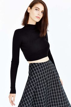UNIF X UO Fine Gauge Cropped Sweater This but not cropped. Make it.