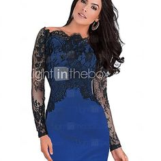 5fbd2615facd91 Duopindun Cocktail Sexy Off Shoulder Women Patchwork Party Penicl Summer  Prom Dress