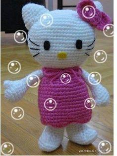 Amigurumi, knitting toys, filling toys, handmade, hand-made Hello Kitty Amigurumi, Hello Kitty Crochet, Amigurumi Doll, Crochet Baby Cocoon, Baby Afghan Crochet, Crochet Patterns Amigurumi, Baby Knitting Patterns, Knitting Toys, Knitted Dolls