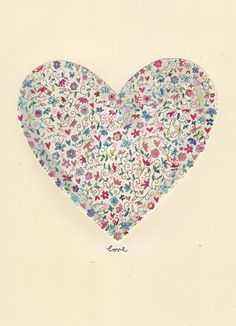 floral heart by kimartwork on Etsy, £22.00