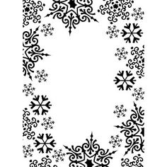 """Darice - Embossing Folder - 4.25""""X5.75"""" - Snowflake Trim"""
