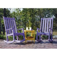 Purple Rocking Chairs