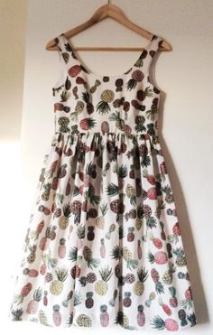 Roisin's pineapple Lilou dress - sewing pattern in Love at First Stitch