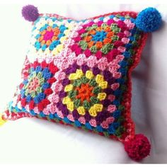 Crochet Home, Love Crochet, Beautiful Crochet, Crochet Crafts, Yarn Crafts, Hand Crochet, Crochet Projects, Knit Crochet, Crochet Cushion Cover