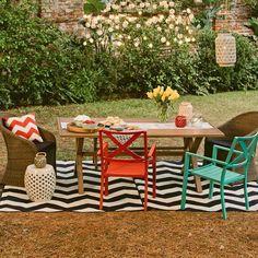 Eclectic outdoor decor