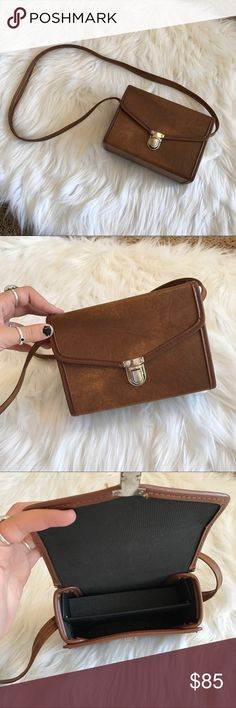 Vintage camera case crossbody bag So so cool! This is an authentic vintage camera case bag. Could also be used as a purse! Listed brand for views. Open to offers! LF Bags Crossbody Bags