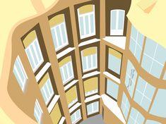 Gaudi, Barcelona, Multi Story Building, Graphic Design, House, Home, Barcelona Spain, Haus, Antoni Gaudi