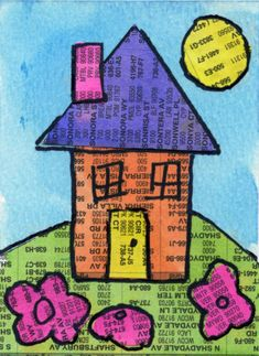 House Collage. Op de website vind je een uitleg over de opdracht.