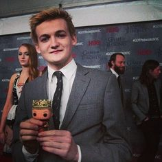 King Joffrey (Jack Gleeson) with, of course, himself — and Sansa giving some mad side-eye | Community Post: The Cast Of 'Game Of Thrones' With Mini Versions Of Their Characters