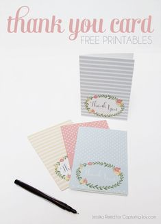 Super cute Thank You Cards in Capturing-Joy.com!  Say thank you with these free…