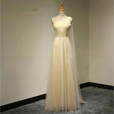 Sexy One Shoulder A-Line Ribbon Sash Long Evening Dress Summer Style Bridesmaid…