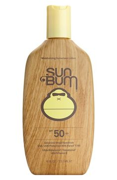 This bottle is to die for. Definitely will be needing something like this, maybe even a higher SPF.  Sun Bum SPF 50 Sunscreen Lotion | Nordstrom