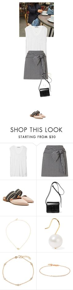"""Outfit of the Day"" by wizmurphy ❤ liked on Polyvore featuring T By Alexander Wang, Miss Selfridge, Malone Souliers, 3.1 Phillip Lim, Efva Attling, Aurélie Bidermann, BERRICLE, Monica Vinader, ootd and gingham"