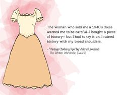 """Vintage Clothing Tips"" by Valerie Loveland. The Written Wardrobe, Issue 2."