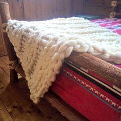 Gigantesque couverture tricot en Merino laine par TheAutumnAcorn