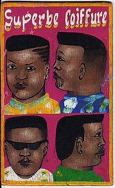 Benin - barbershop sign