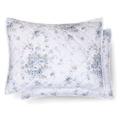 Shadow Rose Pillow Sham - Teal & White - Simply Shabby Chic® : Target