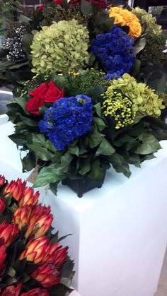 These beautiful blooms last forever...we're serious! They are dried flowers that won't loose their color, or flake away.