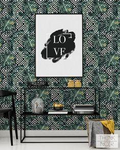 ThinkNoir Wallpaper sind bereit, jeden möglichen Raum zu bilden, einzigartig und trendy! Unsere entfernbaren Tapeten und Wandbilder sind einfach weg, wie man einige künstlerische und trendige Akzente in Ihr Interieur bringen! Benutzen Sie ThinkNoir Tapete trendy und voller guter Stimmung zuhause!   ZWEI OPTIONEN VON WALLPAPER MATERIAL - AUSWÄHLEN, WELCHES DAS BESTE FÜR SIE IST   (1) ABNEHMBARE TEXTILTAPETE  -Abnehmbare -Leicht zu installieren und zu entfernen -Waschbar -Feuerbeständig…