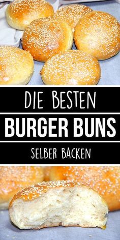 Bake the best BURGER BUNS yourself. Super soft and super fluffy. - These perfect burger buns are the best I& ever eaten. So nice fluffy and soft and if it& - Best Burger Buns, The Best Burger, Good Burger, Pain Burger, Burger Co, Hamburger Meat Recipes, Hamburger Buns, Perfect Burger, Vegan Breakfast Recipes